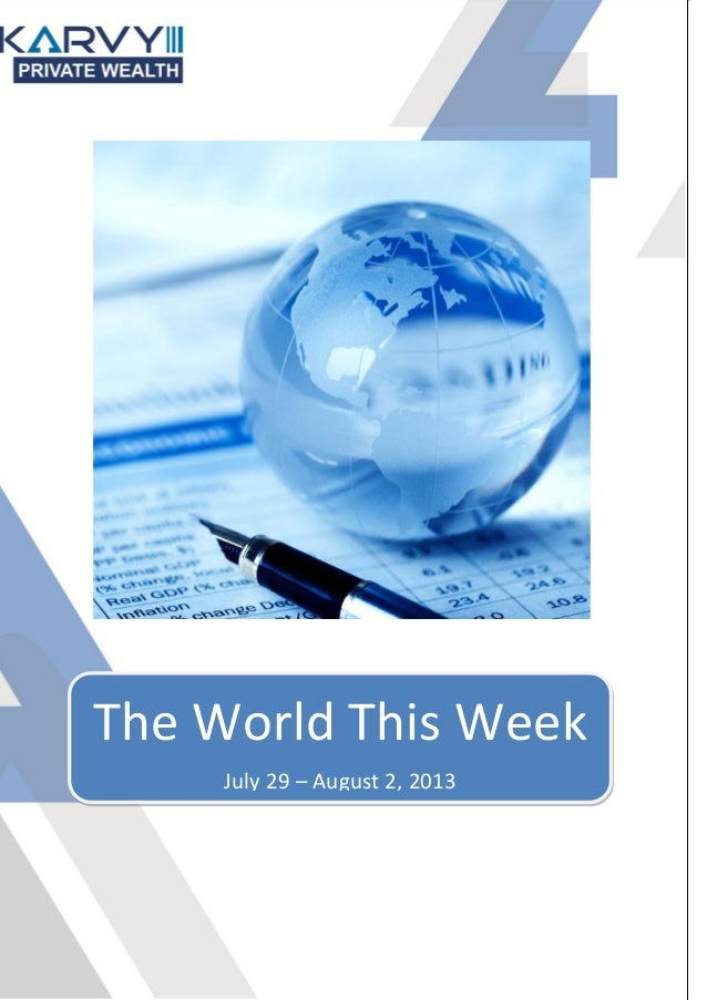 The World This Week July 29 – August 2, 2013