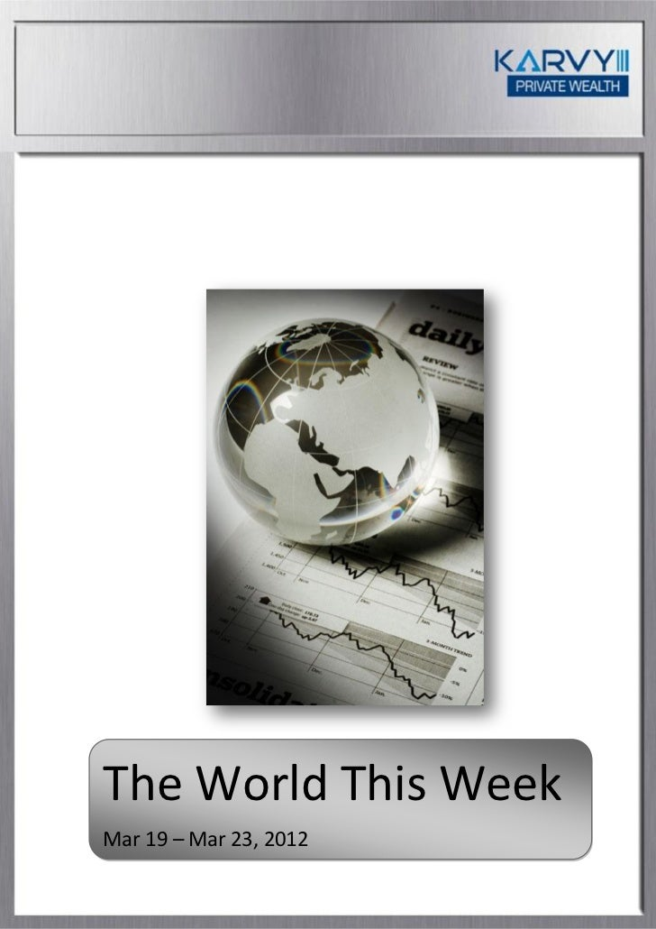 The World This WeekMar 19 – Mar 23, 2012
