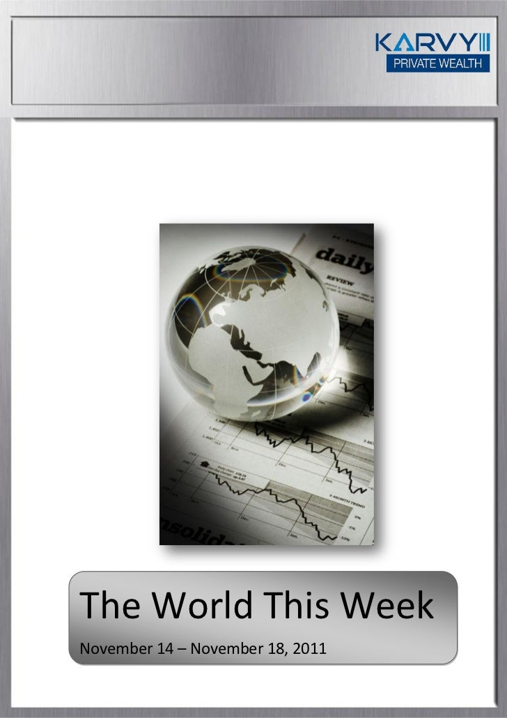 The World This WeekNovember 14 – November 18, 2011