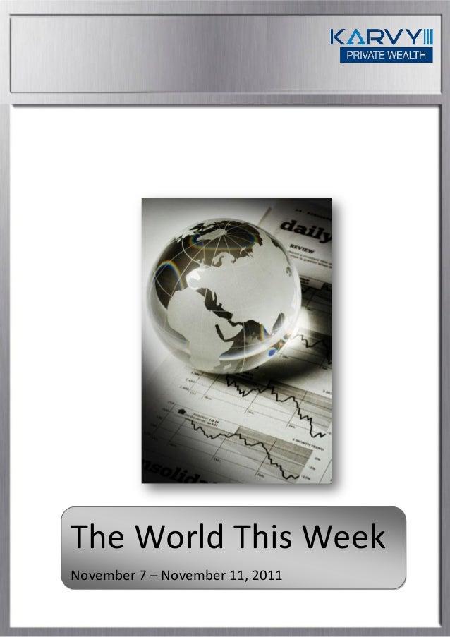 The World This Week November 7 – November 11, 2011