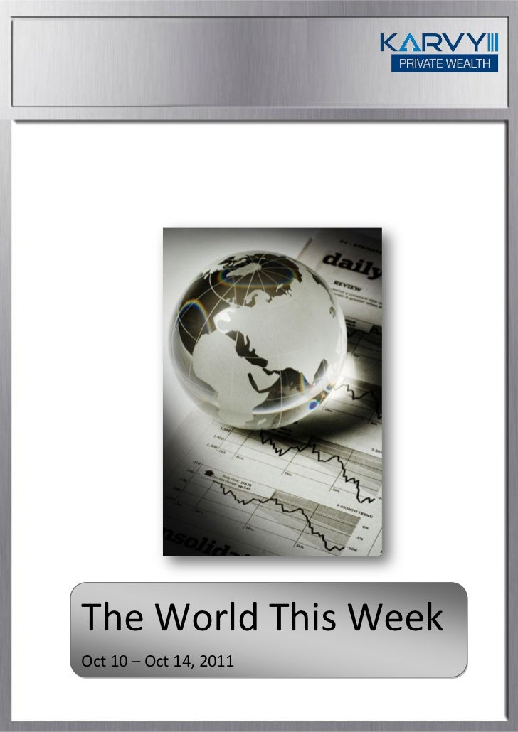 The World This WeekOct 10 – Oct 14, 2011