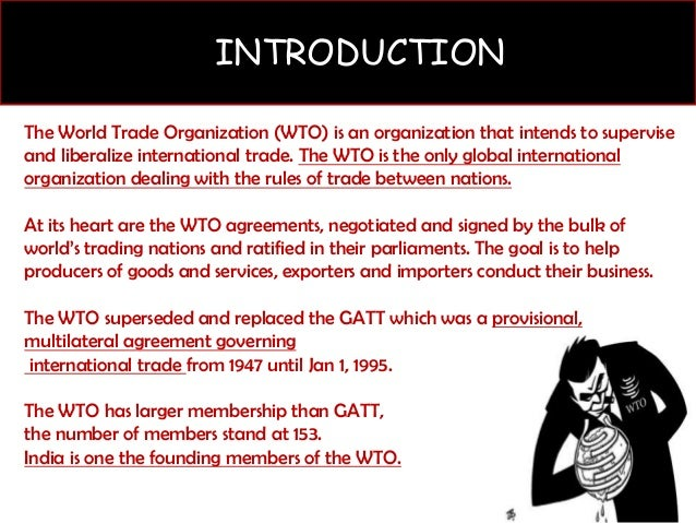 the impact of world trade organization wto Keywords: export, productivity, ownership, world trade organization  the wto  had a significant impact on its international trade in the 2000s in the wto.