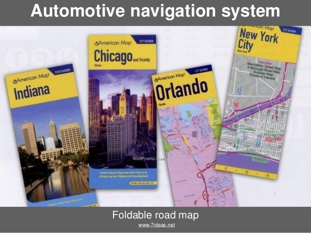 Automotive navigation system  Foldable road map www.7ideas.net