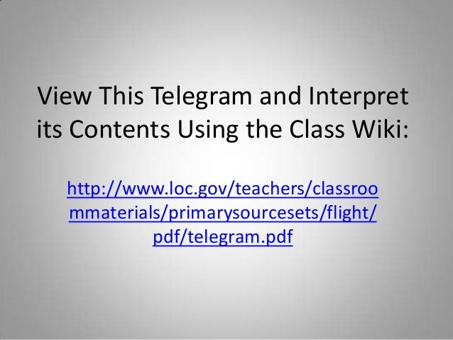 The Wright Brothers Primary And Secondary Source Lesson Plan For Grad