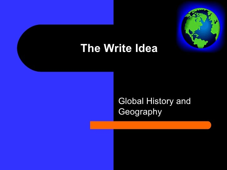 The Write Idea Global History and Geography