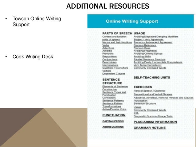 towson online writing