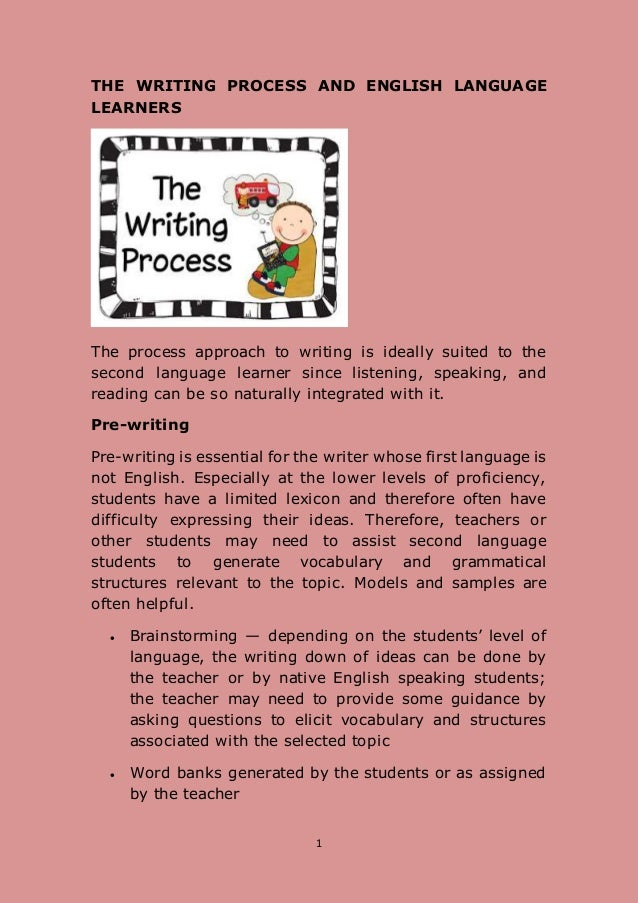 writing assignment for ell students