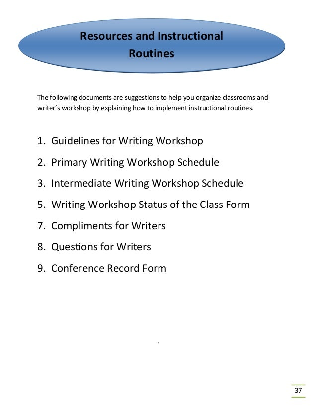 The Writing Process A Resource Guide Final
