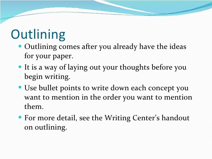 Implementing the Writing Process