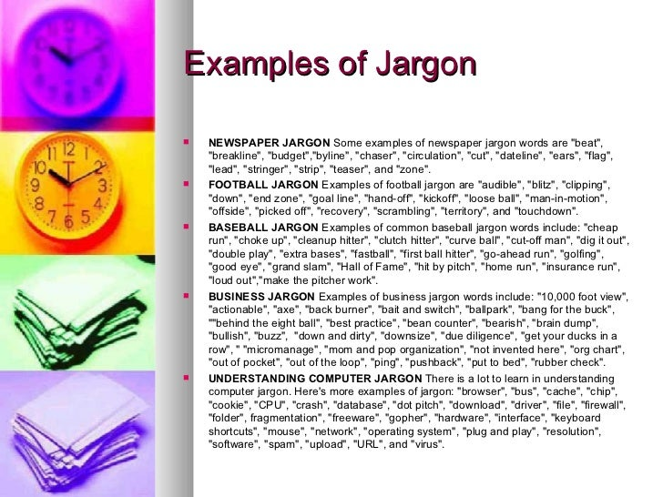 Examples of Jargon in the Workplace