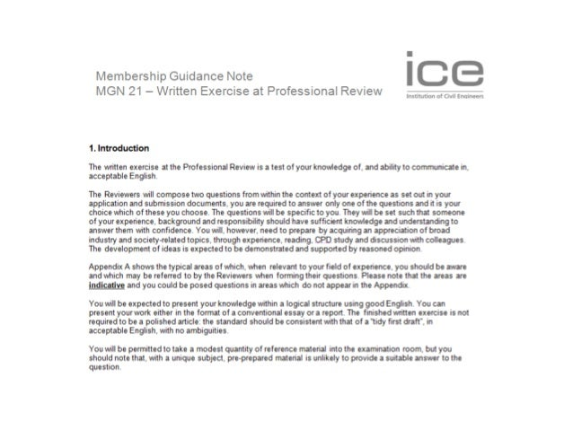 ice professional review essay questions ice written exercise