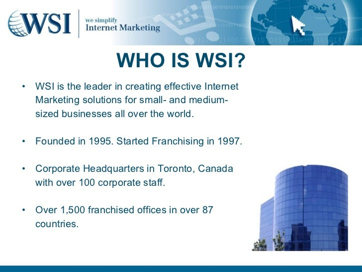 The WSI Franchise Business Opportunity in Bahrain
