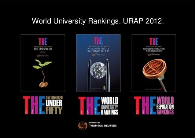 World University Rankings. URAP 2012.