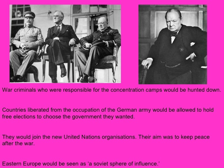 yalta and potsdam An activity with information sheet intended for higher ability year 9 helping pupils to assess the impact on the post war conferences on declining east-west relations.