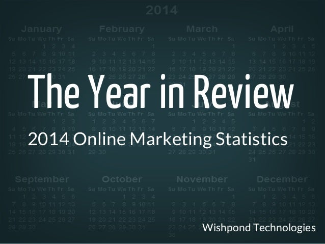 The Year in Review  2014 Online Marketing Statistics  Wishpond Technologies