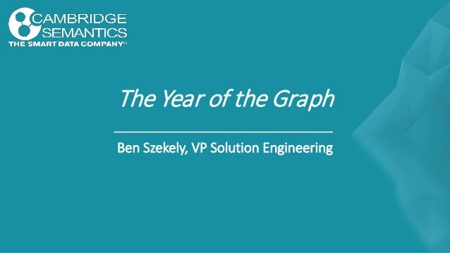 The Year of the Graph Ben Szekely, VP Solution Engineering