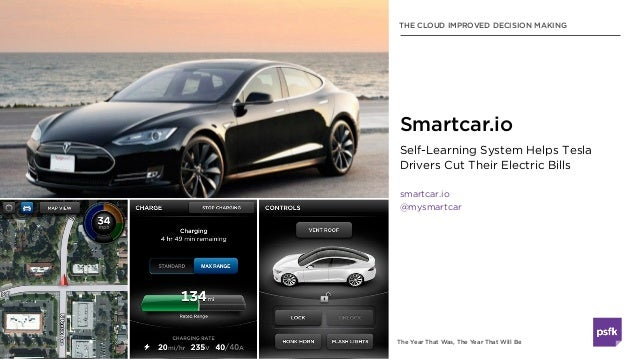The Year That Was, The Year That Will Be THE CLOUD IMPROVED DECISION MAKING Self-Learning System Helps Tesla Drivers Cut T...