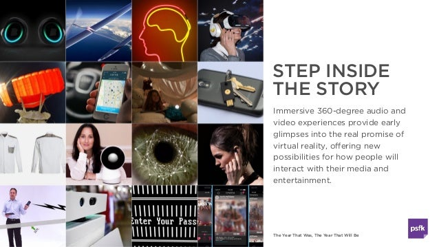 The Year That Was, The Year That Will Be STEP INSIDE THE STORY Immersive 360-degree audio and video experiences provide ea...