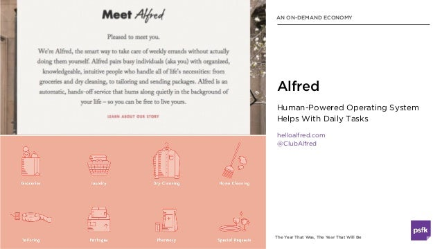 The Year That Was, The Year That Will Be Human-Powered Operating System Helps With Daily Tasks helloalfred.com @ClubAlfred...