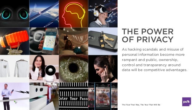 The Year That Was, The Year That Will Be THE POWER OF PRIVACY As hacking scandals and misuse of personal information becom...