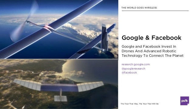 The Year That Was, The Year That Will Be Google and Facebook Invest In Drones And Advanced Robotic Technology To Connect T...