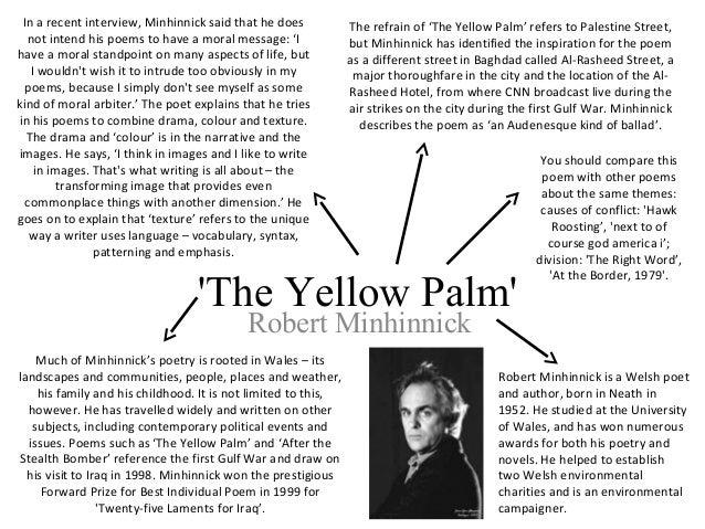 yellow palm by robert minhinnick