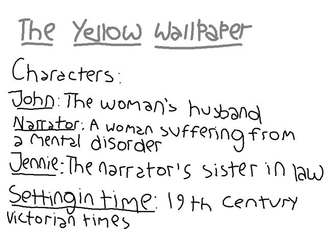 """the yellow wallpaper analysis paper Literary analysis essay: """"the yellow wallpaper  she begins to see figures inside the paper  lit, literary, literary analysis, the yellow wallpaper."""