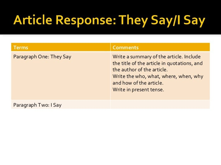 they say i say the They say i say - ebook download as pdf file (pdf) or read book online this is an excellent document to discuss negotiation tactics, especially when writing a thesis.