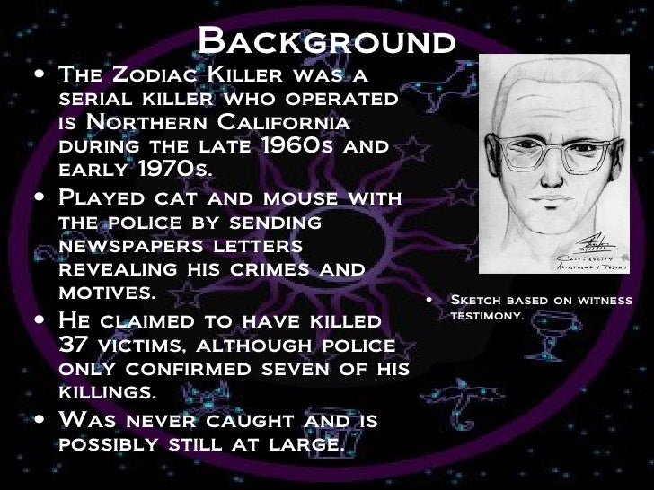 profile of the zodiac killer
