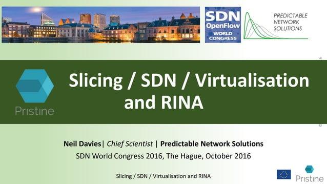 ©PredictableNetworkSolutionsLtd2016 Slicing / SDN / Virtualisation and RINA Slicing / SDN / Virtualisation and RINA Neil D...