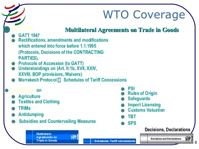 Wto 13 wto coverage gatt 1994 multilateral agreements on trade in goods platinumwayz