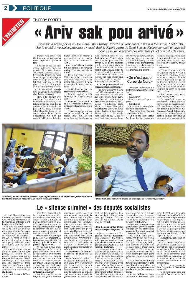 INTERVIEW EXCLUSIVE - Thierry Robert se dévoile - Le Quotidien