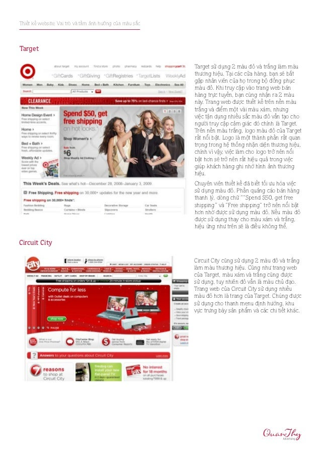 Thiết kế website: Vai trò và tầm ảnh hưởng của màu sắcTarget                                                         Targe...