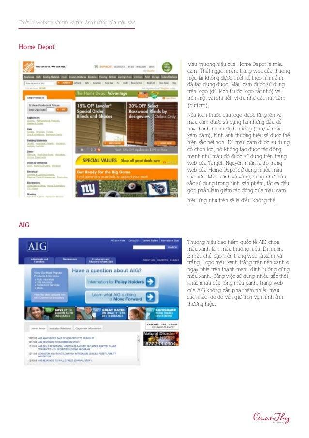 Thiết kế website: Vai trò và tầm ảnh hưởng của màu sắcHome Depot                                                         M...