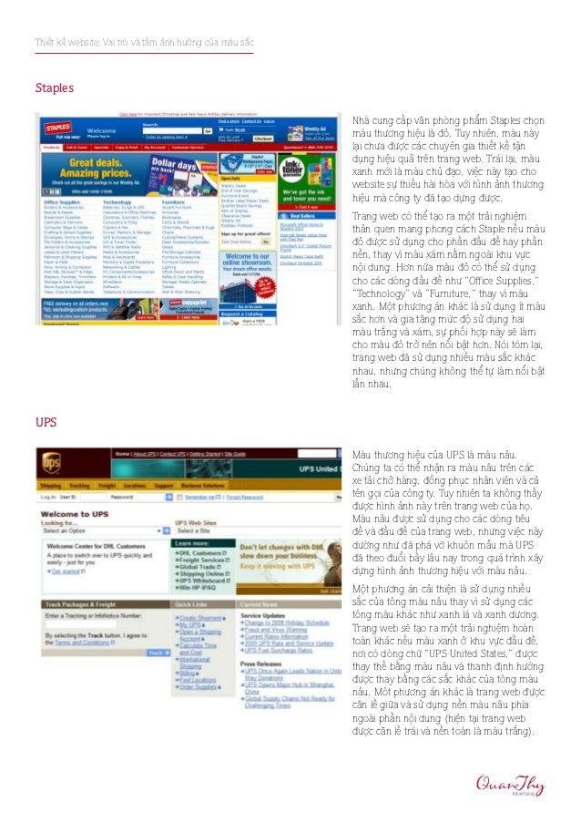 Thiết kế website: Vai trò và tầm ảnh hưởng của màu sắcStaples                                                         Nhà ...