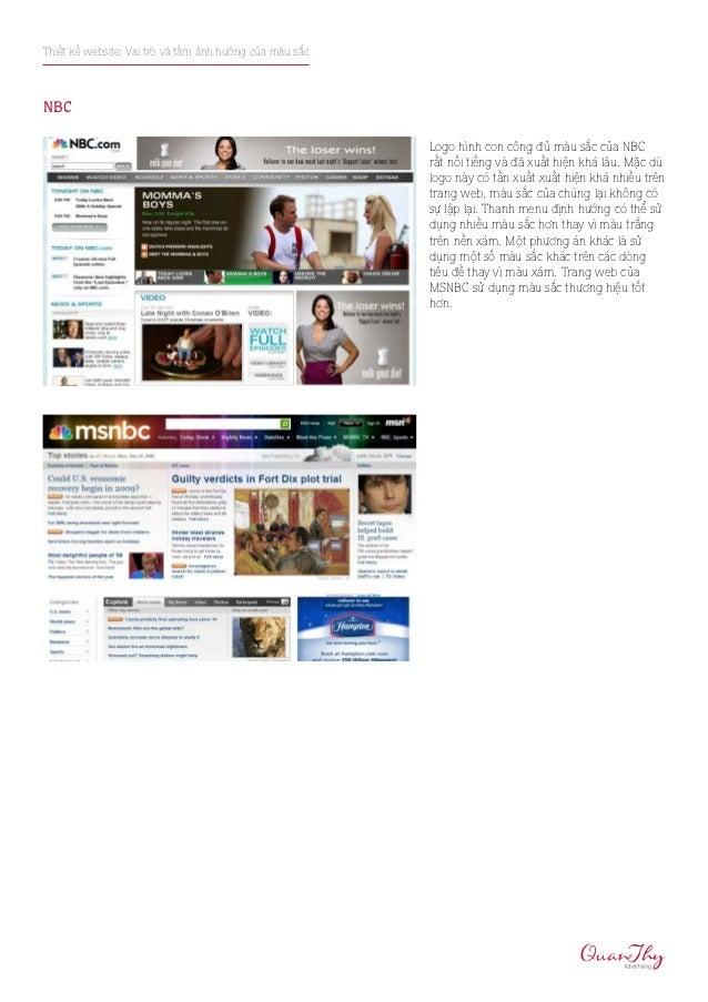 Thiết kế website: Vai trò và tầm ảnh hưởng của màu sắcNBC                                                         Logo hìn...