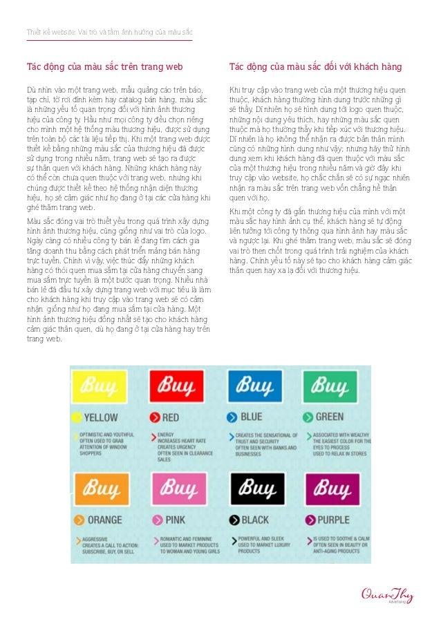 Thiết kế website: Vai trò và tầm ảnh hưởng của màu sắcTác động của màu sắc trên trang web                          Tác độn...