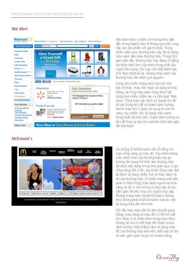 Thiết kế website: Vai trò và tầm ảnh hưởng của màu sắcWal Mart                                                         Wal...