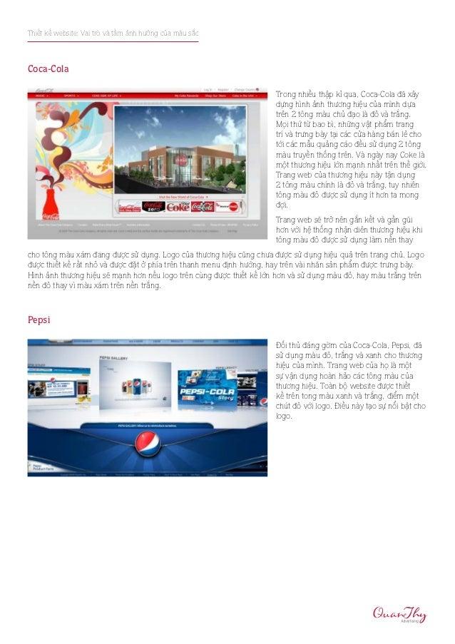 Thiết kế website: Vai trò và tầm ảnh hưởng của màu sắcCoca-Cola                                                           ...