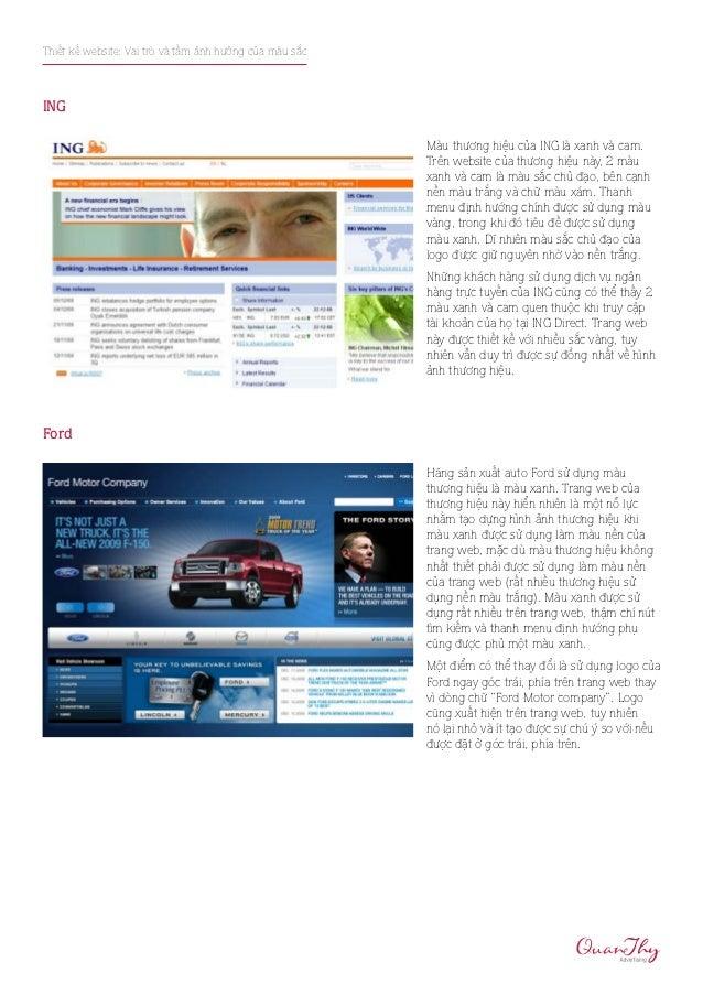 Thiết kế website: Vai trò và tầm ảnh hưởng của màu sắcING                                                         Màu thươ...