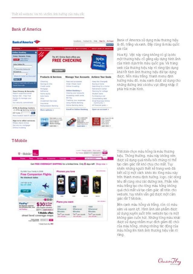 Thiết kế website: Vai trò và tầm ảnh hưởng của màu sắcBank of America                                                     ...