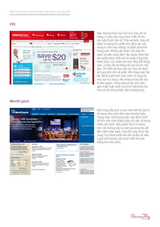 Thiết kế website: Vai trò và tầm ảnh hưởng của màu sắcCVS                                                         Màu thươ...