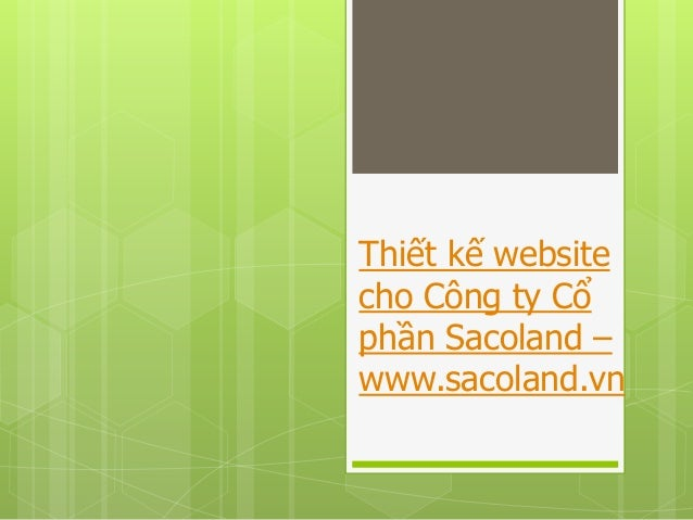 Thiết kế website cho Công ty Cổ phần Sacoland – www.sacoland.vn