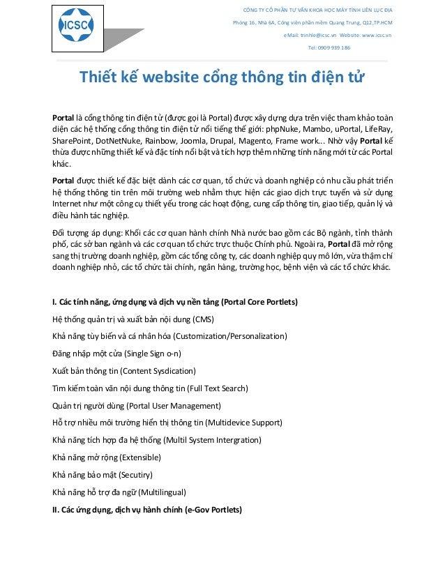CÔNG TY CỔ PHẦN TƯ VẤN KHOA HỌC MÁY TÍNH LIÊN LỤC ĐỊA Phòng 16, Nhà 6A, Công viên phần mềm Quang Trung, Q12,TP.HCM eMail: ...