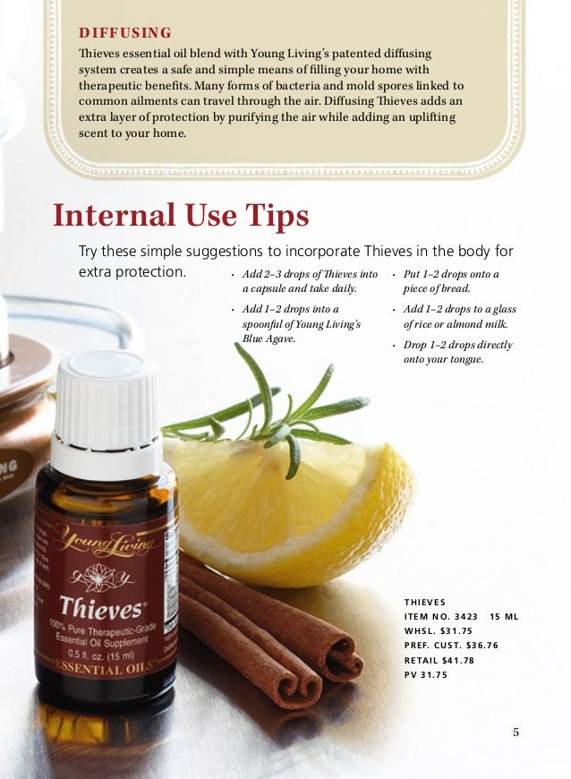 Benefits Of Using Thieves Essential Oil