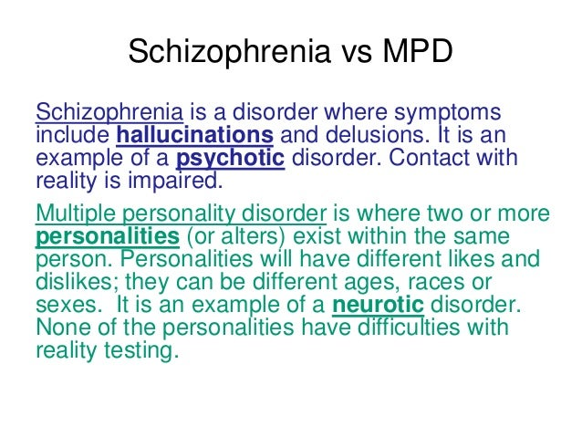 an overview of the multiple personality disorder