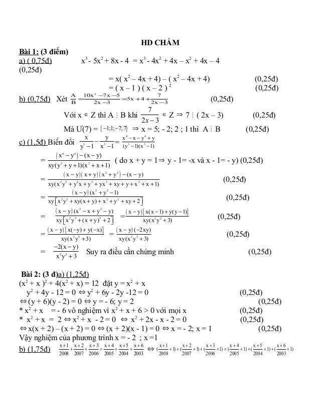 đề Thi hsg toán 8 có đáp án Slide 2