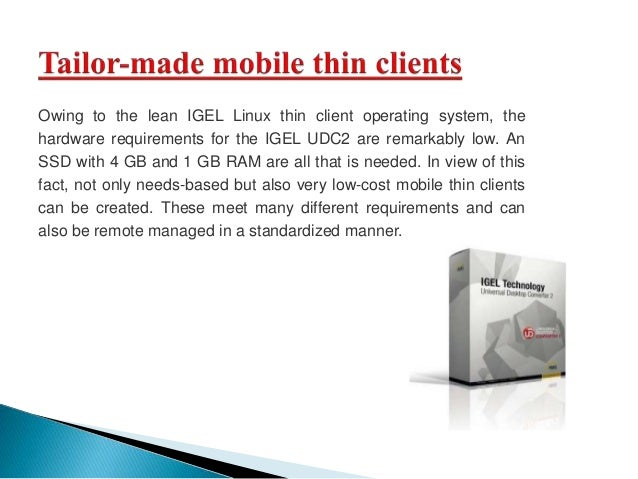 Thin client igel america sales corporation