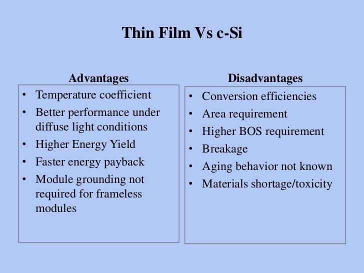 Thin Film Solar Photovoltaics In India