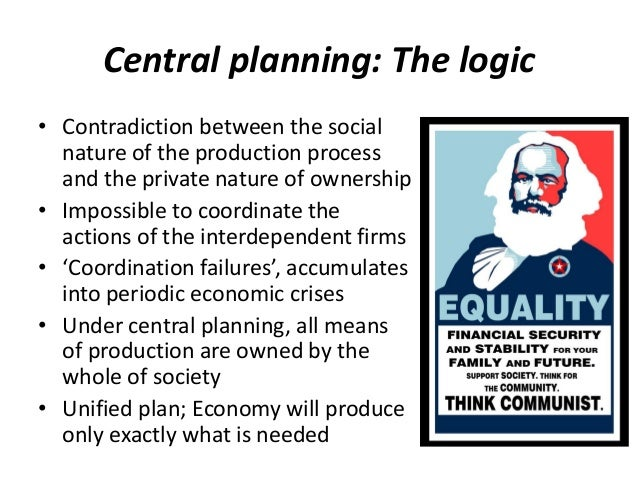 Image result for central planning is a form of Communism